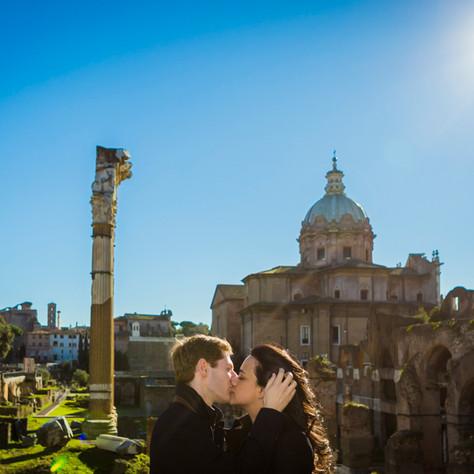 Brian & Regina - A winter surprise proposal in Rome at the Orange Garden