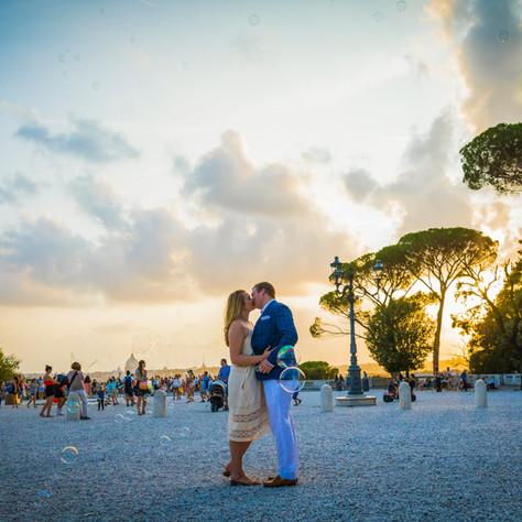 Matt + Julia - Sunset proposal at Pincio