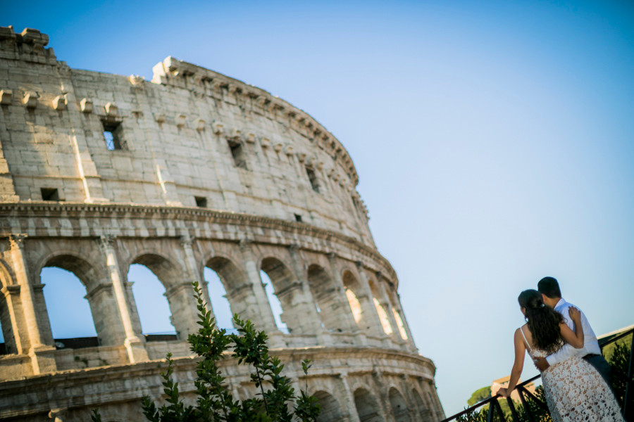 rome engagement photo-session