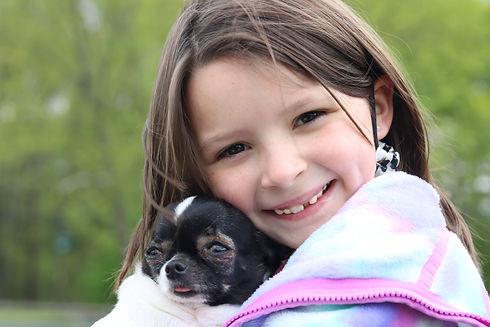 Karleigh posing with dog