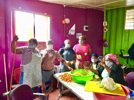 Transition: From food parcels to soup kitchen.