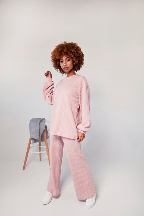 Knit Co-Ord Set (baby pink)