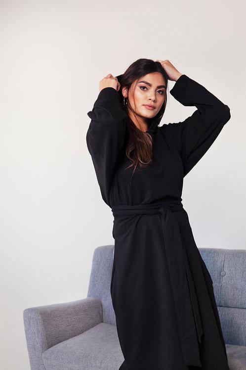 HOODIE DRESS (black)