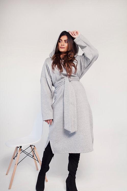 HOODIE DRESS (grey)