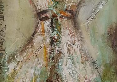 Encanto Secreto - Técnica mixta sobre tela - 40 x 105 cm - 2019.