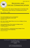 Issue 1, 2020 of Religion and Social Communication Out Now