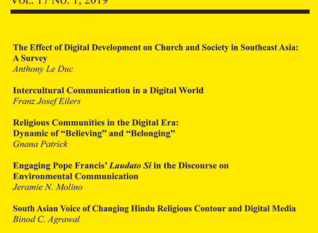 Digital Format of Volume 17 (2019) of Religion and Social Communication Out Now