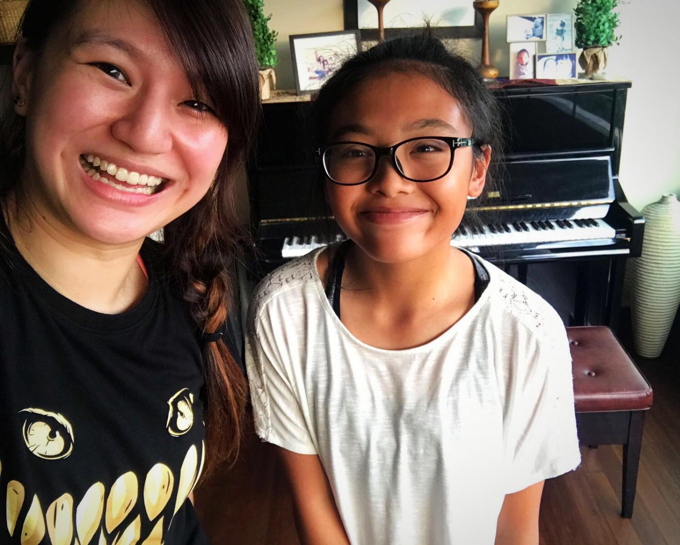 Teacher Eileen and Student