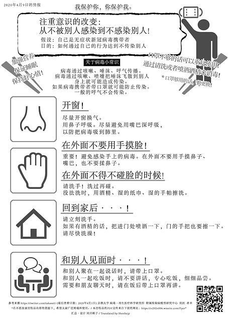 感染対策チラシ多言語 -中国語簡体字- | Covid-19 Infection Control - Simplified Chinese -