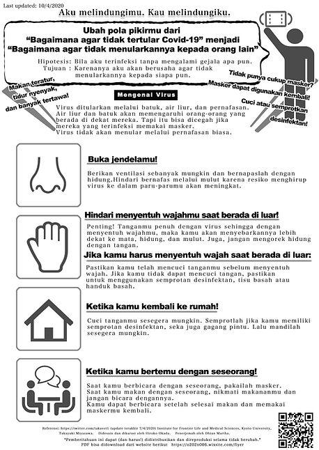 感染対策チラシ多言語 -インドネシア語- | Covid-19 Infection Control - Indonesian -