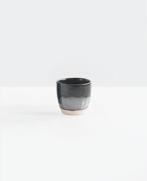 Nero e grigio tazza di ceramica