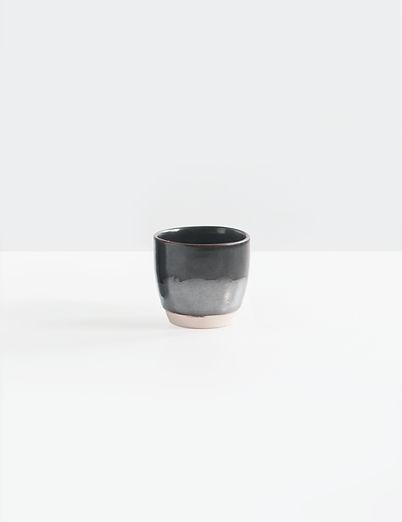 Noir et gris Tasse en céramique