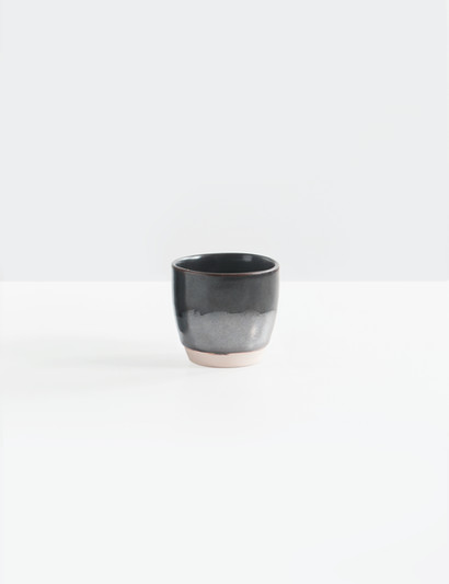 Black and Gray Ceramic Cup