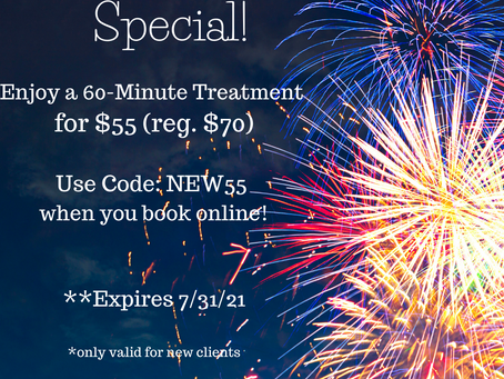 New Client Special in July!