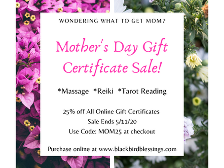 Mother's Day Gift Card Sale!