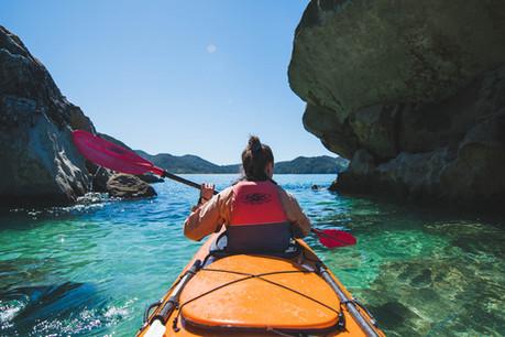 Kayaking the Abel Tasman.  New Zealand. Colm Keating Photography