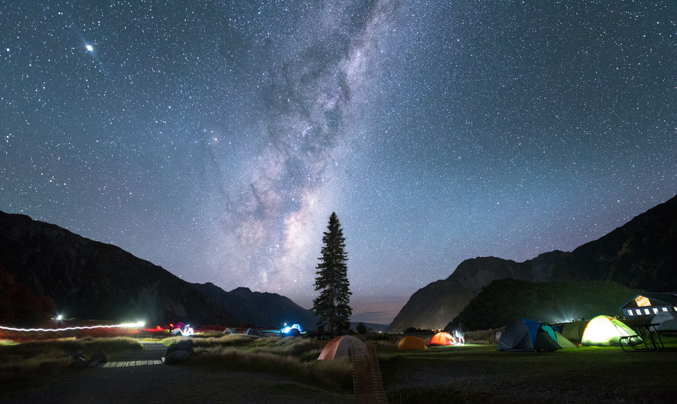 White Horse Campsite. Mount Cook National Park. New Zealand. Colm Keating Photography.