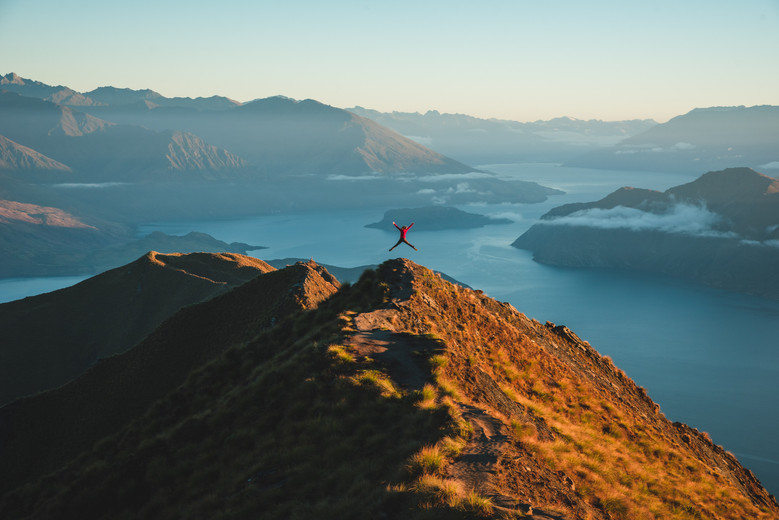 Roy's Peak, Wanaka at sunrise. New Zealand. Colm Keating Photography.