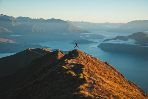Roy's Peak, Wanaka at sunrise. New Zealand. Colm Keating Photography.