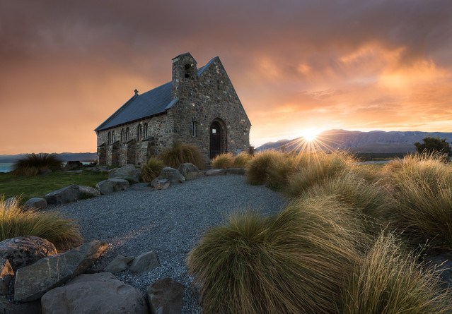 Church of the Good Sheppard. Lake Tekapo. New Zealand. Colm Keating Photography.