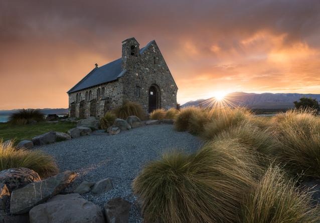 Church of the Good Sheppard. Lake Tekapo. New Zealand. Colm Keating Photography.