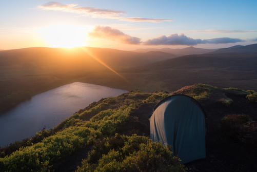 Camping above Lough Bray. Wicklow, Ireland. Colm Keating Photography