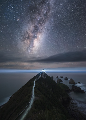 Nugget Point Lighthouse. Astrophotography. Milky Way. New Zealand. Colm Keating Photography.