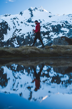 Reflections in the tarns at Mt. Brewster with Brewster Glacier in the background. Wanaka New Zealand. Colm Keating