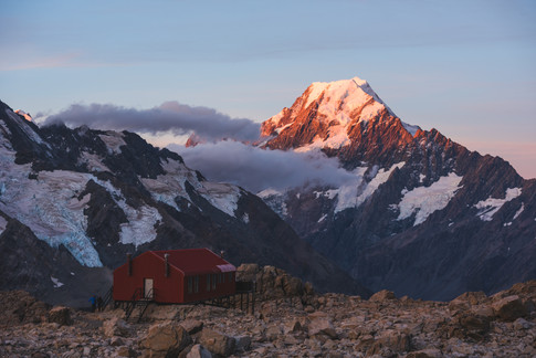Mueller Hut and Mount Cook. New Zealand. Colm Keating Photography.