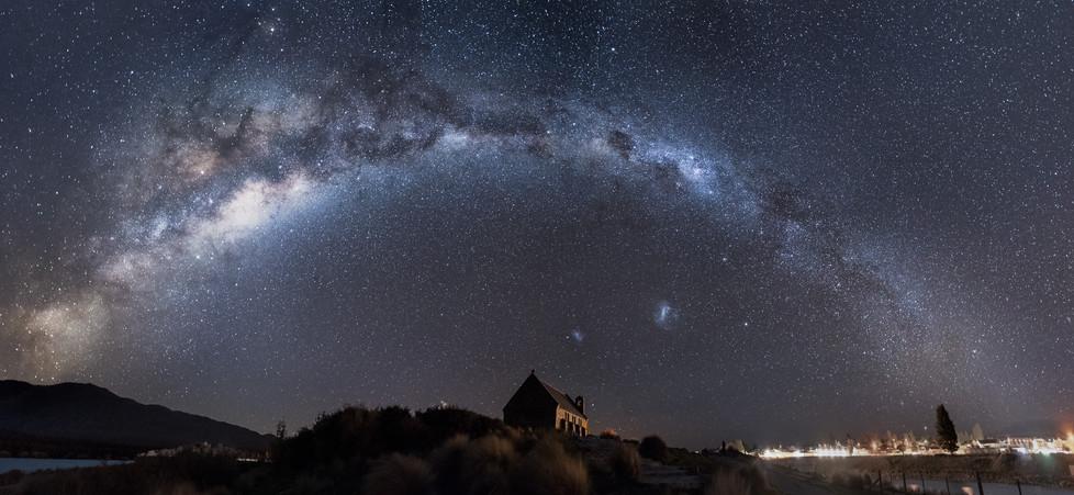 Milky Way Panorama. Astrophotography. Lake Tekapo. New Zealand. Colm Keating Photography.