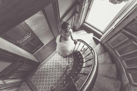 La mariée vue d'en haut
