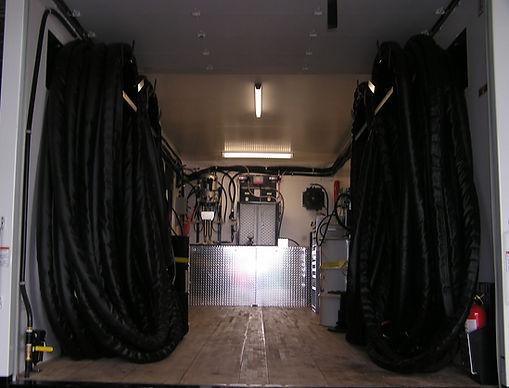 Two hose spray foam rig