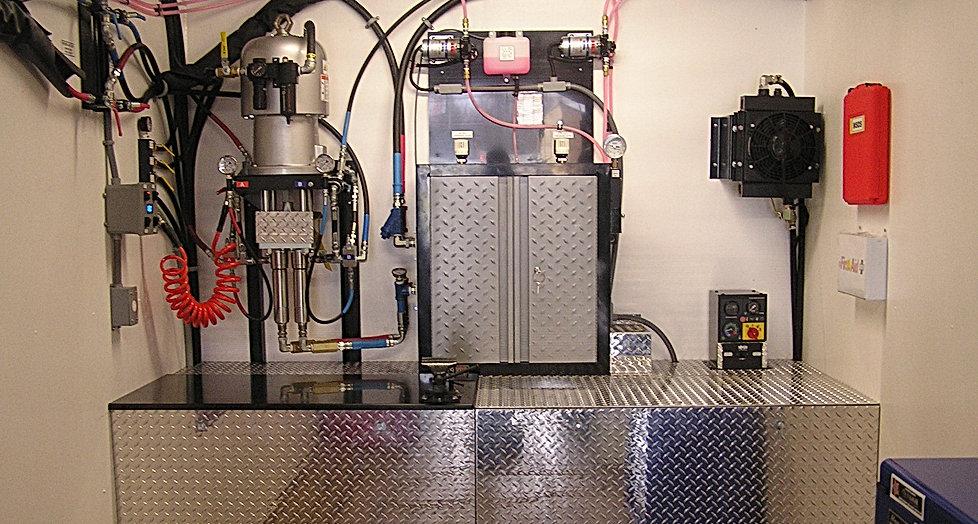 Spray foam rig equipment