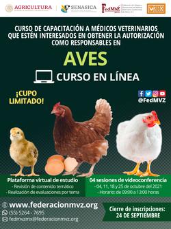 CURSO MVRA AVES EN LÍNEA OCTUBRE 2021