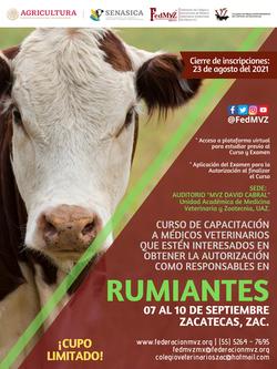 CURSO RUMIANTES ZACATECAS SEPTIEMBRE 2021