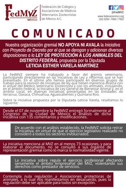 COMUNICADO_FedMVZ_-_Iniciativa_Ley_Proye