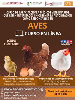 CURSO MVRA AVES EN LÍNEA JULIO 2021