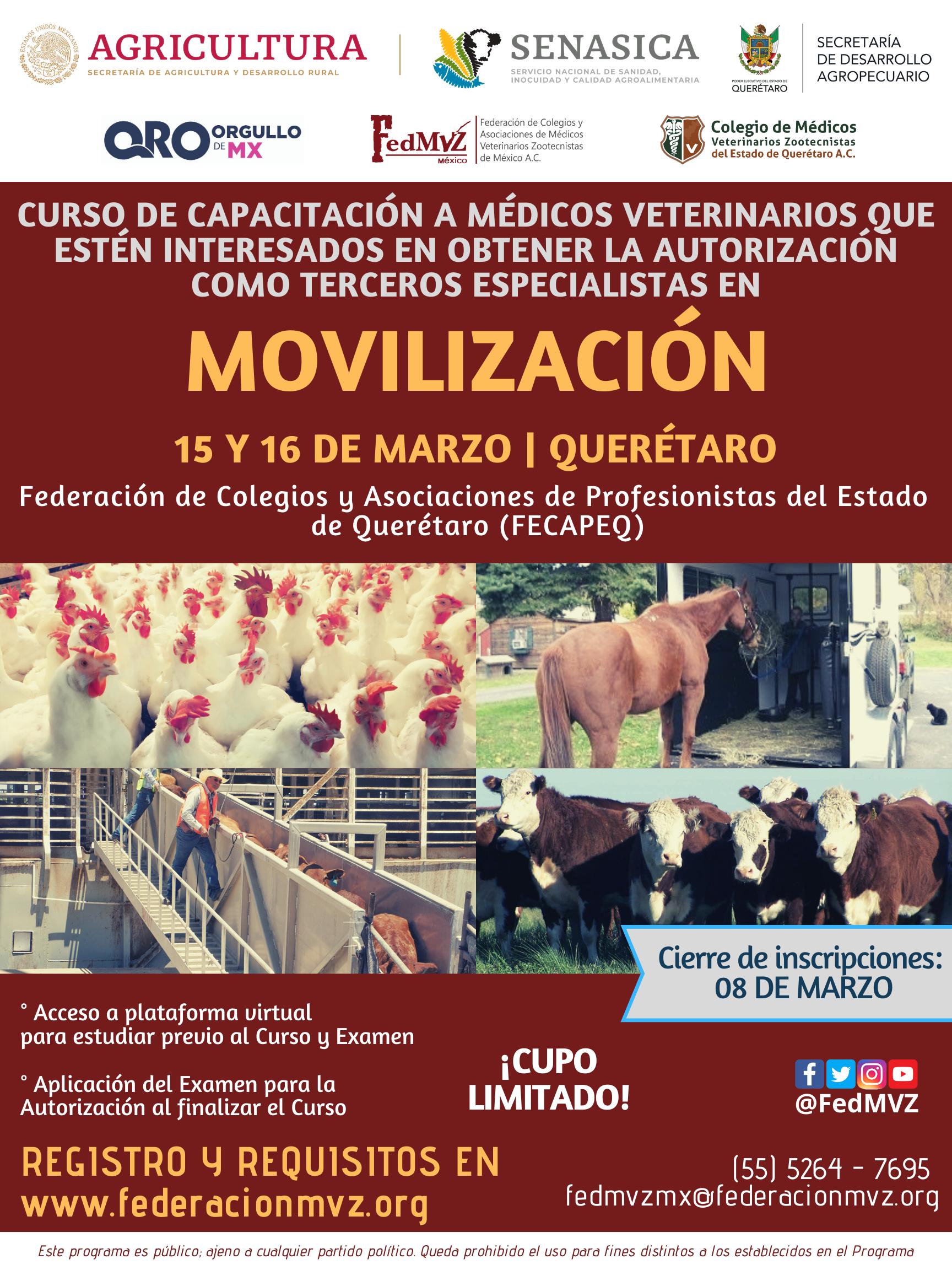 CURSO MVTEA MOVILIZACIÓN QUERÉTARO MARZO