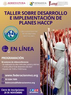 CURSO EN LÍNEA HACCP DICIEMBRE 2021