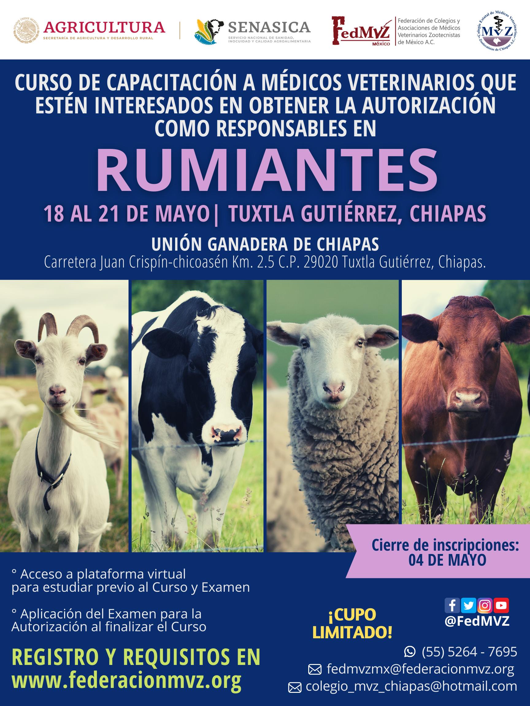 CURSO MVRA RUMIANTES CHIAPAS MAYO 2021