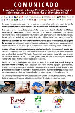 COMUNICADO FedMVZ - SOMEBA