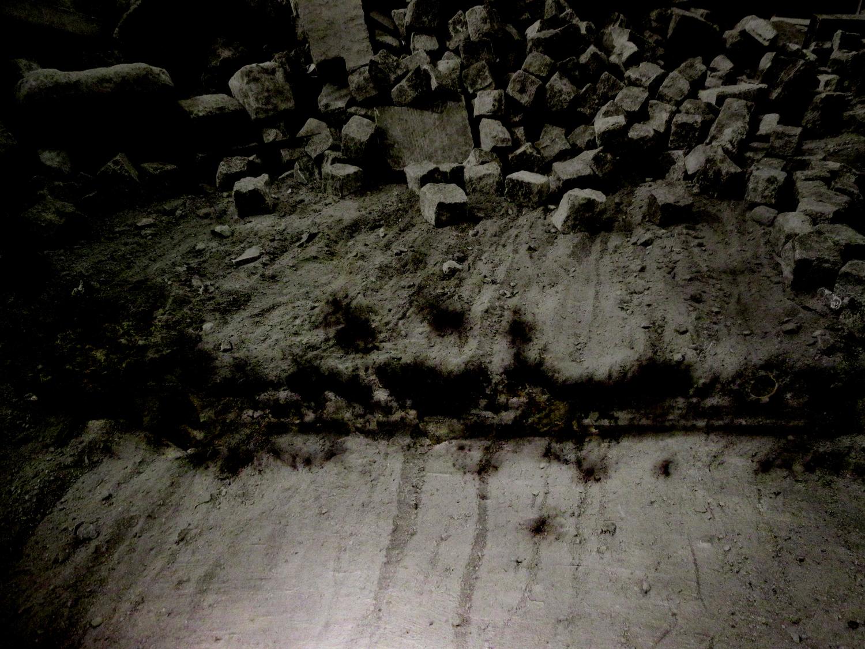 pavés sur le sol
