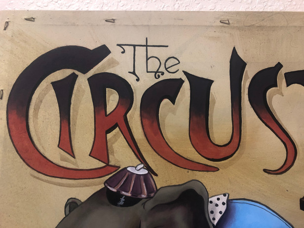 Circus Lettering Close Up