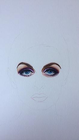 Progress Image of Twiggy Eyes