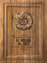 Wood Grain, Medallion, and Frame