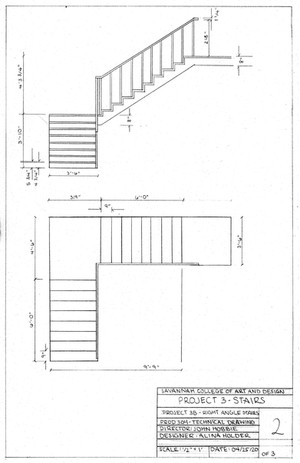 Right Angle Stairs