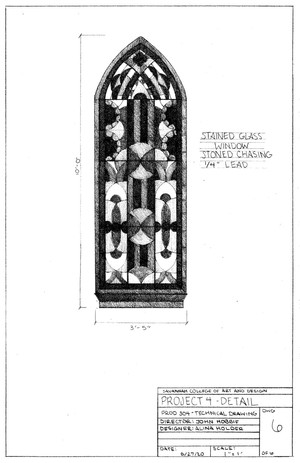 Gothic Window Detail Drawing