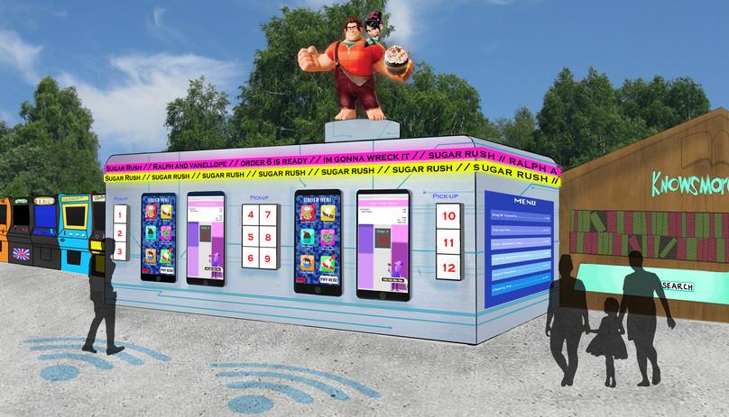 Food Kiosk Rendering