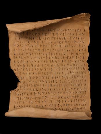 Ancient Scandinavian Scroll