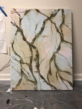 Progress Image oof Marble Veins